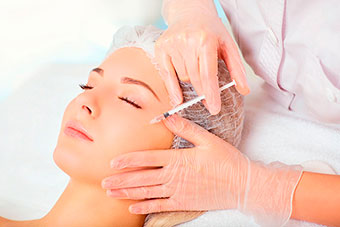 Mesoterapia facial.